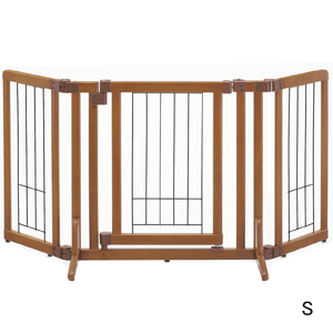 ペット用 木製おくだけドア付ゲート