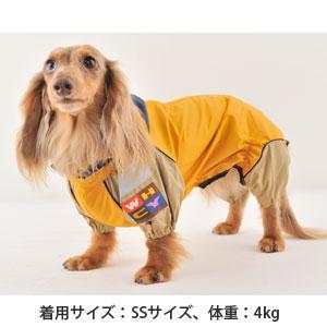 【新素材】JコートB フード付きレインコート(Mダックス用)